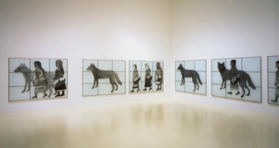 Kiki Smith, Gang of Girls and Pack of Wolves, 1999